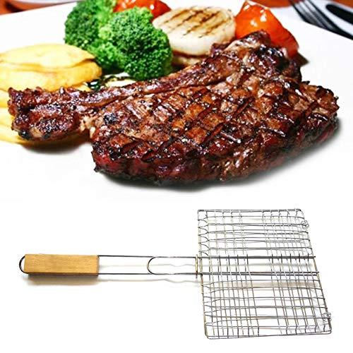 Raspbery Clip per Barbecue in Acciaio Inossidabile per Esterni con Supporto a Maglie di Ferro per Barbecue Barbecue con griglia per Alimenti Clip con