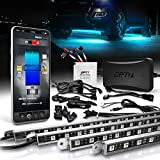 OPT7 Aura Pro Underglow for Truck/SUV Aluminum, Bluetooth APP LED Exterior underbody Lighting Kit, Neon Accent Bar Strip,16 Million Color, Waterproof, Soundsync, Door Assist, iOS/Android Enable, 4pc