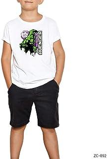 THEZEPPLIN-Hulk Incredible Avanger Beyaz Çocuk Tişört