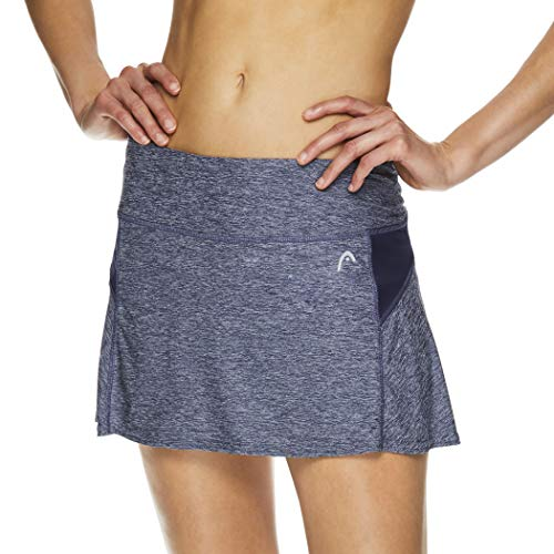 Head Damen-Tennisskort – Leistungs-, Trainings- & Laufrock - Blau - Groß