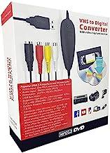 مبدل VHS به دیجیتال DVD ، دستگاه آداپتور صوتی / تصویری USB2.0 ضبط صوتی ، انتقال ویدیو VCR TV Hi8 Game S به DVD ، پشتیبانی از Windows 10 / 8.1 / 8/7 / Vista / XP