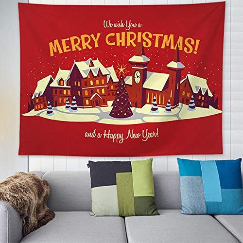 Tapiz navideño Tapiz Colgante de Pared Manta Mandala Pintura al óleo Almohadilla de Yoga Alfombra para Dormir Viaje Estera de Camping Festival Decoración-230x180cm