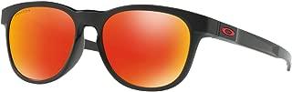 Men's Stringer Non-polarized Iridium Rectangular Sunglasses, MATTE BLACK, 55.0 mm