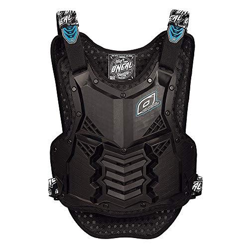 O'NEAL | Motorrad-Protektorweste | Enduro Motocross Downhill | Kunststoff-Spritzguss, Schutz am Bauch & des unteren Rückens | Holeshot Roost Guard Short | Erwachsene | Schwarz Blau | Einheitsgröße