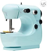 Mini Electric Sewing Machine, Portable Household Sewing Machine, Beginner, Tailor, Free Arm, Manual Adjustment Machine, Blue