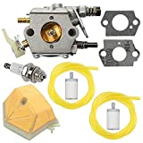 Powtol 503281504 Carburetor fits 51 55 Chainsaw Parts WT-170 with Air Filter Tune Up Kit
