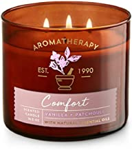 Bath and Body Works White Barn Aromatherapy Comfort Vanilla Patchouli Candle 3 Wick 14.5 Ounce (packaging may vary)