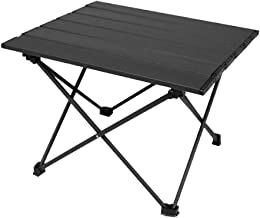 CLISPEED Folding Camping Table Portable Adjustable Aluminum Collapsible Table for Outdoor Beach BBQ Picnic Cooking Festiva...