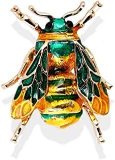 Sweet Bumblebee Insects Cute Rhinestone Crystal Brooch Pin Bee Brooch Jewelry | color - green