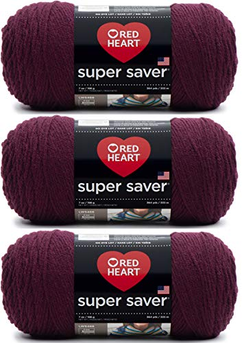 Red Heart E300-378 Red Heart Super Saver Yarn - Claret