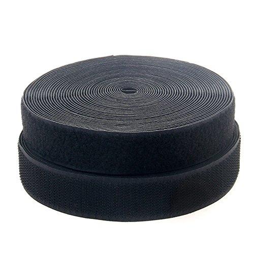 TUKA-i-AKUT Scratch Ruban à Coudre 25Mx50mm Non-adhésif Bande Crochet et Boucle B5030 Noir