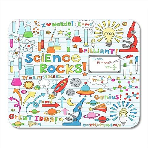 Rechteck Mauspad Gummi Schule Chemie auf Bildung Chemische Formel Mousepad Gaming Notebook Computer Zubehör Backing.