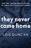 They Never Came Home (Laurel leaf suspense) (English Edition)