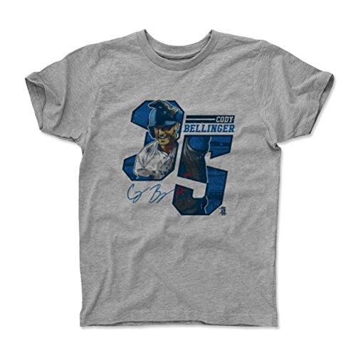500 LEVEL's Cody Bellinger Kids Shirt Youth Medium (8Y) Heather Gray - Los Angeles Baseball Fan Apparel - Cody Bellinger Offset B