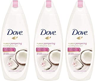Dove Purely Pampering-Coconut milk with jasmine petals Body Wash 500ml/16.9oz - 3 Pack