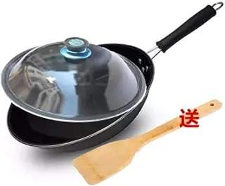 PJY - Wok esmaltado para el hogar, Cocina de Gas portátil sin Recubrimiento, Olla de inducción de inducción, sin óxido, Antiadherente
