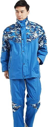 Imperméable- Pantalon de Pluie imperméable Camouflage Set Poncho Moto Voiture électrique pour Hommes et Femmes Adulte diviser imperméable (Couleur   Royal bleu, Taille   M)