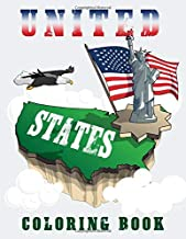 United States Coloring Book: Maps of the 50 States of the USA, Educational Coloring Book for Kids, USA Coloring Book