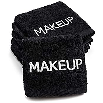Kaufman – 100% Cotton Makeup Remover Face Towel 6-Pack – 13in x 13in – Reusable Facial Cleansing Ultra Soft and Absorbent Makeup Washcloths