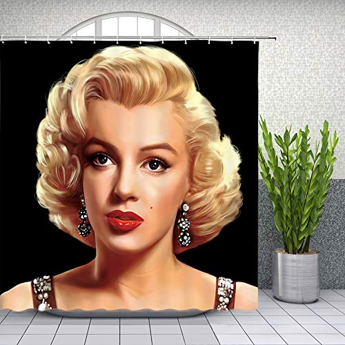 Lileihao Marilyn Monroe Duschvorhänge Sexy Frauen Badezimmer Decor Wasserdichte Polyester Stoff Home Bath Supplies Decor Zubehör Duschvorhang Set Multi 1000