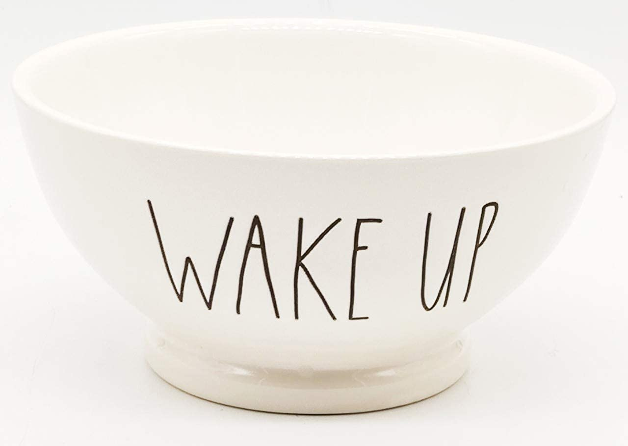 Rae Dunn by 67% OFF of fixed price Magenta WAKE Cereal Cream Clearance SALE Limited time Ice UP Bowl