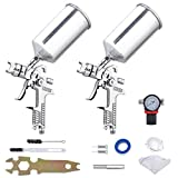 Yescom HVLP Air Spray Gun Set 1.3mm 1.8mm for Auto Car Paint Primer Basecoat Clearcoat Gravity Feed