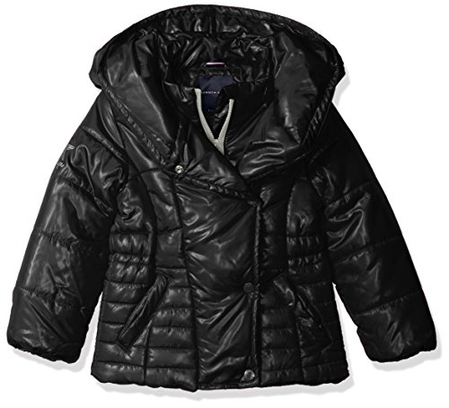 Tommy Hilfiger Mädchen Daunenjacke Jacke, Daunenjacke, schwarz, TDL0045Q