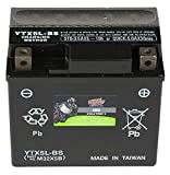 Interstate Batteries CYTX5L-BS Cycle-Tron Powersports Battery 12V 4Ah Motorcycle ATV Battery Rechargeable Sealed AGM