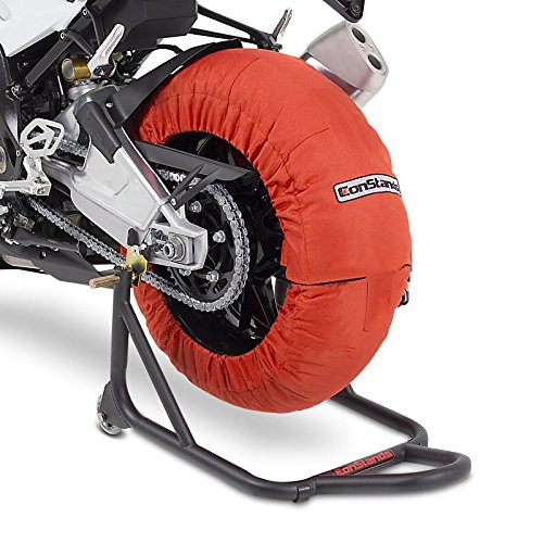 Couverture chauffante Pneu Set 60-80 C Orange pour Ducati Hypermotard 1100/ Evo, 950/939/ 821/796/ SP