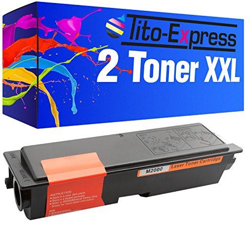 Tito-Express PlatinumSerie 2X Toner XXL Schwarz für Epson M2000 M2000DT M2000DTN0