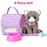 Adora Amazing Pets 'Misty The Grey Kitty' - 4.5-inch Toy Pet For Most 18 Inch Dolls, 6 Piece Set Includes Toy Cat And Accessories (Amazon Exclusive)