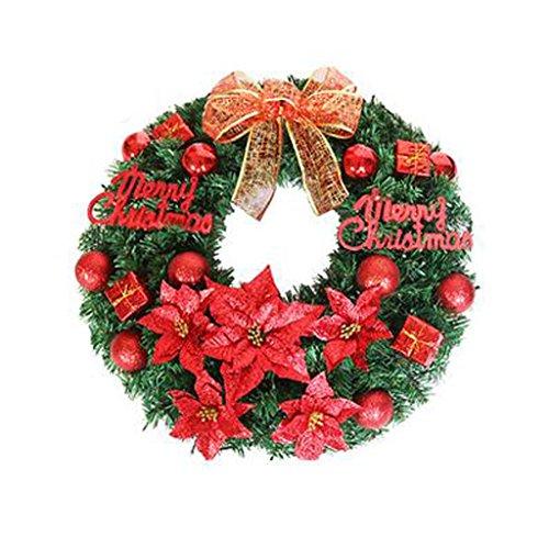 ZHongWei - Corona de Navidad Corona navideña - Decoraciones