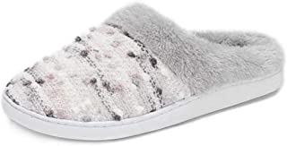 Pescool Womens Girls Cozy Memory Foam Slippers Plush Lined Slip on Indoor House Scuff