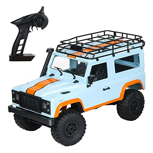Peahog 1:12 2.4G 4WD RC Car Off-Road High-Speed Vehicle Minitary Truck Climb Rock Crawler Electric Hobby Grade RTR Toy for Kids Over 14 Years Old and Adults (Blue)