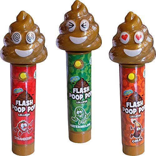 Crazy Candy Factory Emoji Poop Light Up Flashing Pop (SLECHTS 2 meegeleverd, ontwerpen willekeurig gekozen)