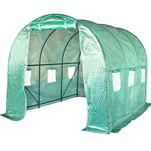 FDW Greenhouse for Outdoors Greenhouse Walk-in Green House L10'xW7'xH7' Plastic Mini Greenhouse Kit Indoor Portable Greenhouse Plant Shelves Tomato Herb Canopy for Patio