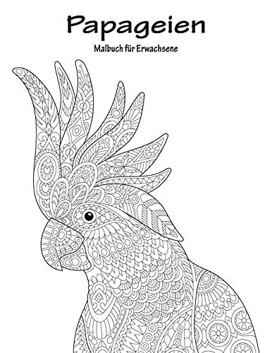 Papageien-Malbuch für Erwachsene 1