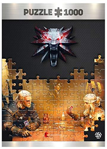 Good Loot The Witcher Playing Gwent - Puzzlespiel mit 1.000 Teilen und den Maßen 68 cm x 48 cm | Der Hexer | inklusive Poster und Tasche | Spiel-Artwork für Erwachsene und Teenager