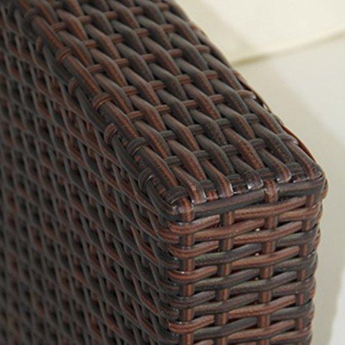 SVITA Lugano Poly Rattan Lounge Garten-Set XXL Sofa-Set Garnitur Gartenmöbel Couch-Set (XXL, Braun) - 2