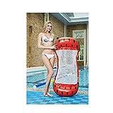 Flotadores Piscina Inflable Colchoneta - Juguete Hinchable Piscina,PVC Adecuado para Piscinas De Verano Y Playa para Adultos Y Niños Colchoneta Piscina (Color : Red)