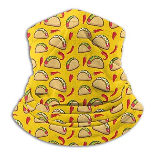 KDU Fashion Neck Warmer Taco Chili Neck Warmer, winddichte nek bivakmuts voor outdoor hardlopen