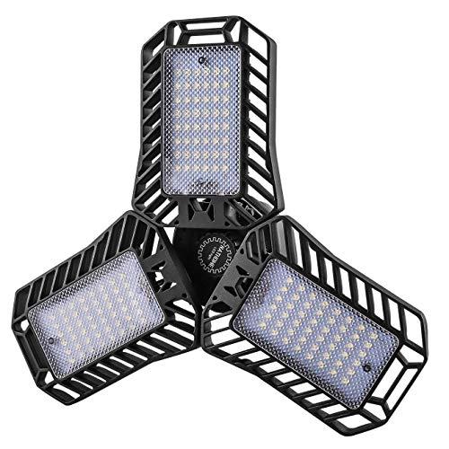 NATHOME LED Garage Light,144 LEDs 5000K 60W(100W Equivalent )/E26 CRI80+ AC110v/deformable Leaf Garage Light,Indoor use Garage Lighting for Led Shop Lights,Workshop Light,Garage Work Lights