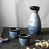 XMYNB Fiaschetta tascabile Ceramica 40 Ml Tazza Di Sake 240Ml Vaso Stile Haibo Sake Vino Set Vino Shochu Brocca Spiriti Liquori Distillati Alcolici Bevande Vino Domestico