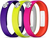 Sony SRW110PUS - Pack Active de tres pulseras para SmartBand, lila,  amarillo y  blanco,...
