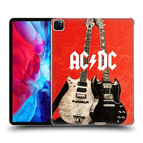 Official AC/DC ACDC Rock Guitars Iconic Hard Back Case Compatible for Apple iPad Pro 12.9 (2020)