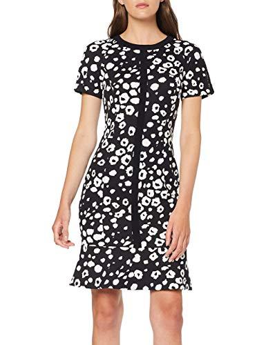 Marc Cain Collections Dress Vestito, Multicolore (Black And White 910), 42 (Taglia Produttore: 2) Donna