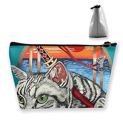 Sharp Shirter Ninja Cat Cosmetic Makeup Bag/Pouch/Clutch Borsa da viaggio Organizer Borsa per Donna Accessori iexcl; & macr; s Articoli da toeletta Beau