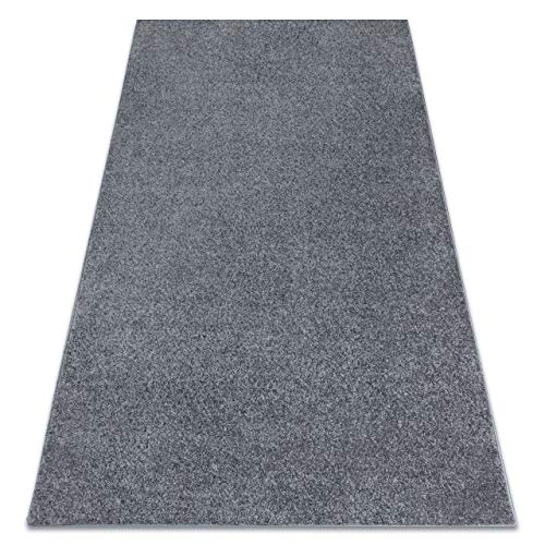 RugsX Santa FE - Alfombra de un solo color para habitaciones, salón, dormitorio, alfombra, gris, varios tamaños, 200 x 500 cm