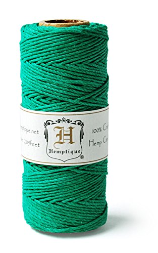 Hemptique HS20CO - GRN - Cordel para jardinería, Color Verd