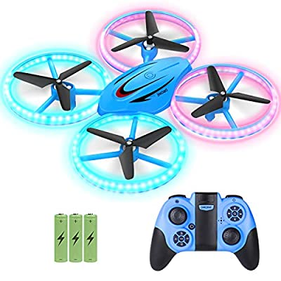Mini Drones for Kids, GEEKERA RC Drone for Beginners with Headless Mode and Altitude Hold, 2.4G Remote Control Quadcopter with Neno Light, Propellers Full Protect, Easy to Fly Gift Toys for Boys Girls